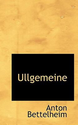 Ullgemeine  N/A 9781117717234 Front Cover