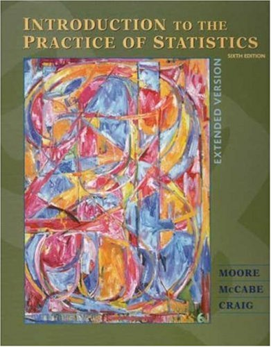 Introduction to the Practice of Statistics Extended Edition and CD-ROM  6th 2009 edition cover