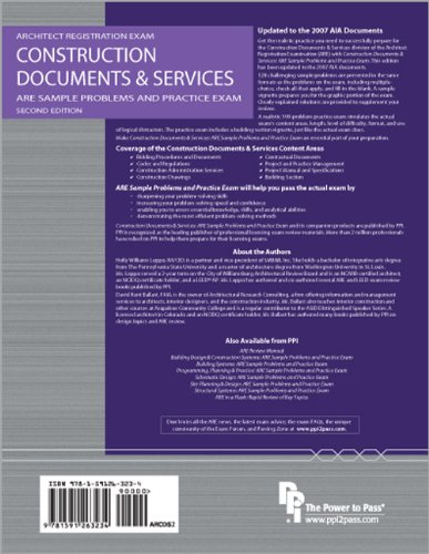 Construction Documents and Services: ARE Sample Problems and Practice Exam  2nd 2011 edition cover