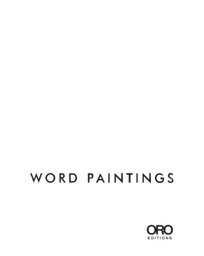Word Paintings   2014 9781941806234 Front Cover