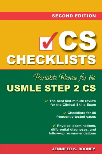CS Checklists: Portable Review for the USMLE Step 2 CS, Second Edition  2nd 2007 (Revised) 9780071488235 Front Cover