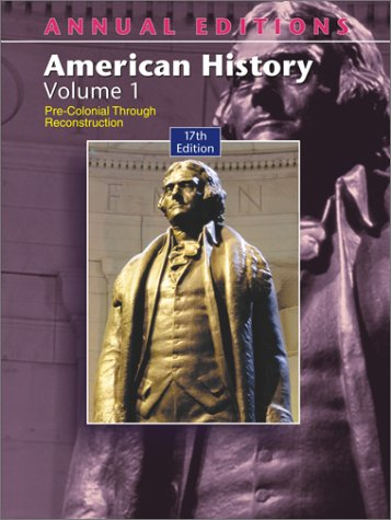 American History 17th 2003 (Annual) edition cover