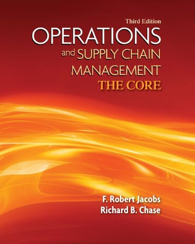 Operations and Supply Management  3rd 2013 9780073525235 Front Cover