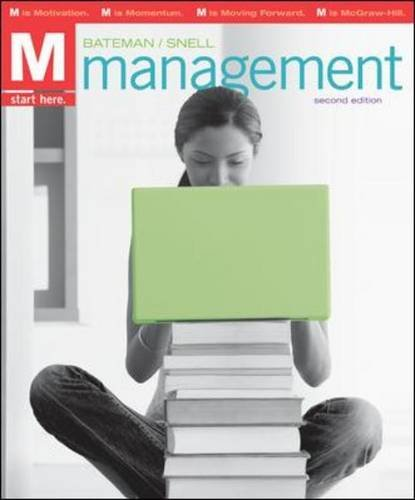 M: Management Management 2nd 2011 9780078137235 Front Cover