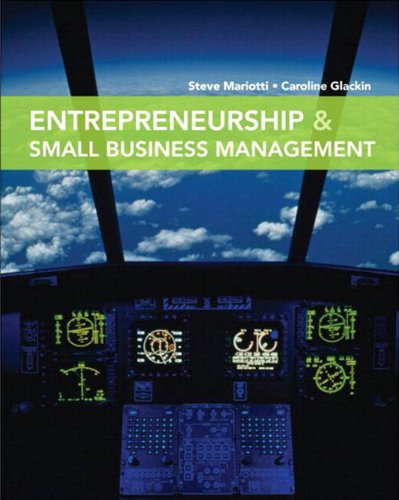 Entrepreneurship and Small Business Management   2012 9780132727235 Front Cover