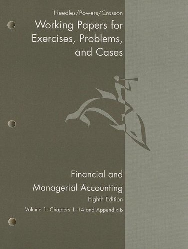 Financial and Managerial Accounting  8th 2008 9780618777235 Front Cover