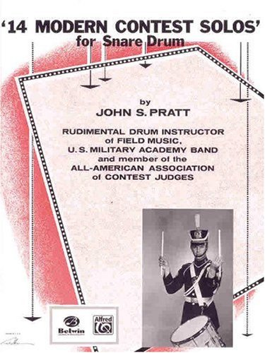 14 Modern Contest Solos For Snare Drum  1985 edition cover