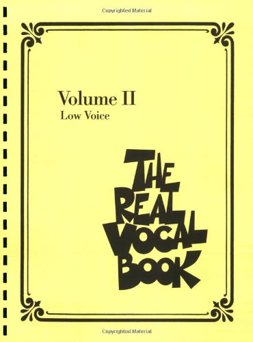 Real Vocal Book - Volume II Low Voice N/A edition cover