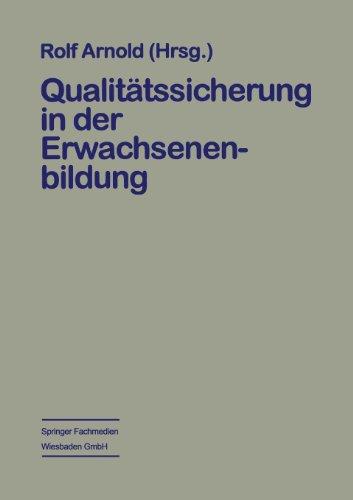 Qualit�tssicherung in der Erwachsenenbildung   1997 9783663112235 Front Cover