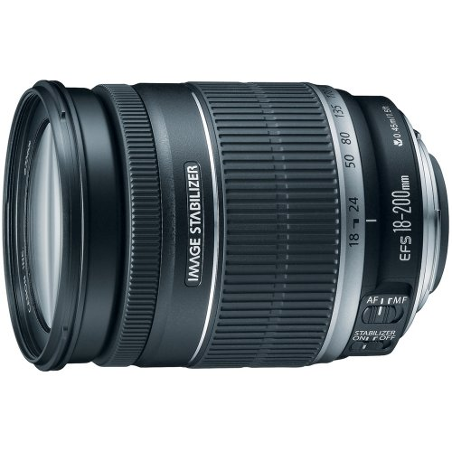Canon EF-S 18-200mm f/3.5-5.6 IS Standard Zoom Lens for Canon DSLR Cameras product image