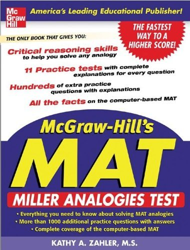 McGraw-Hill's MAT Miller Analogies Test  2006 9780071452236 Front Cover