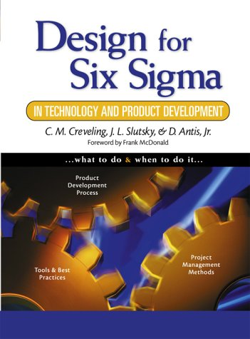 Design for Six Sigma in Technology and Product Development   2003 edition cover