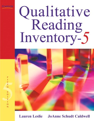 Qualitative Reading Inventory  5th 2011 9780137019236 Front Cover