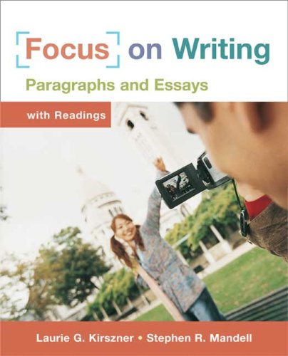 Focus on Writing Paragraphs and Essays  2008 9780312434236 Front Cover