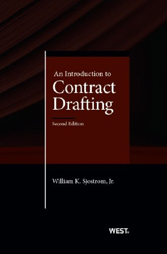 An Introduction to Contract Drafting:   2013 edition cover