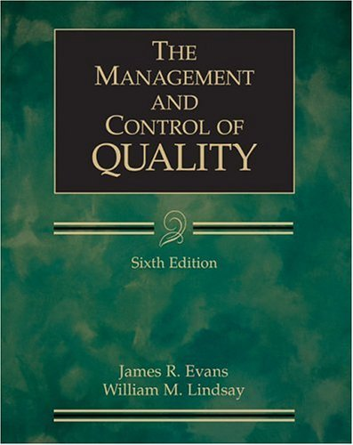 Management and Control of Quality  6th 2005 edition cover