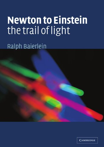 Newton to Einstein: the Trail of Light An Excursion to the Wave-Particle Duality and the Special Theory of Relativity  2001 edition cover