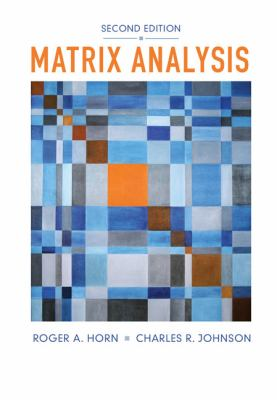 Matrix Analysis  2nd 2013 (Revised) edition cover