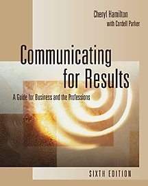 Communicating for Results Guide for Business and Professions 6th 2001 9780534562236 Front Cover