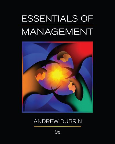 Essentials of Management  9th 2012 9780538478236 Front Cover