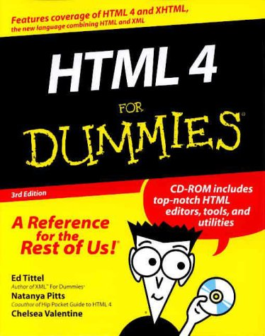 HTML 4 for Dummies  3rd 2000 9780764507236 Front Cover