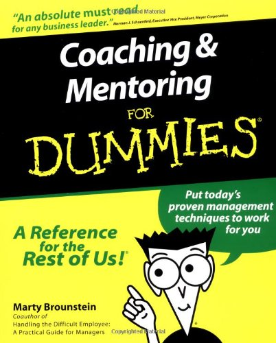 Coaching and Mentoring for Dummies   2000 edition cover