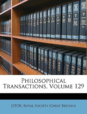 Philosophical Transactions N/A edition cover
