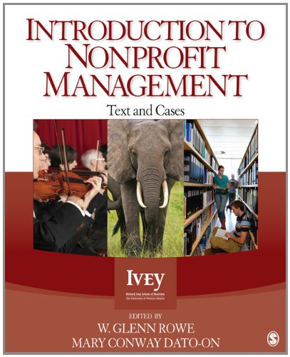 Introduction to Nonprofit Management Text and Cases  2013 edition cover