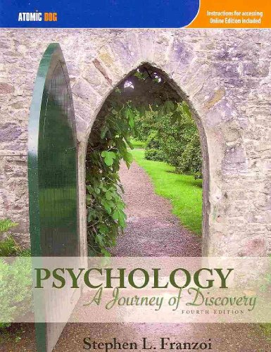 Psychology A Journey of Discovery 4th 2009 edition cover