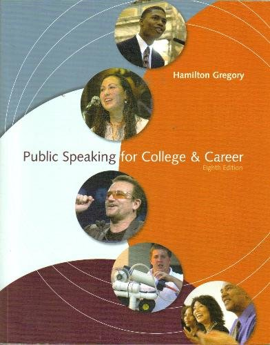 Public Speaking for College and Career 8th 2008 edition cover