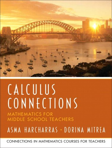 Calculus Connections Mathematics for Middle School Teachers  2007 edition cover