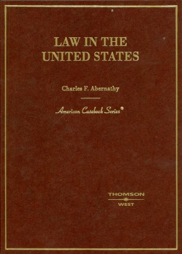 Law in the United States   2006 edition cover