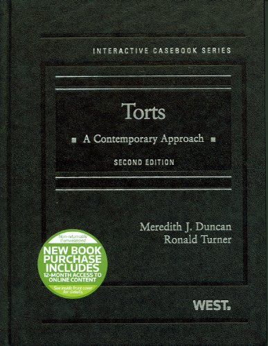 Torts A Contemporary Approach 2nd 2012 (Revised) edition cover