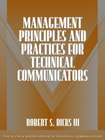 Management Principles and Practices for Technical Communicators   2004 edition cover