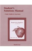 Student Solutions Manual for Beginning Algebra  6th 2013 (Revised) edition cover
