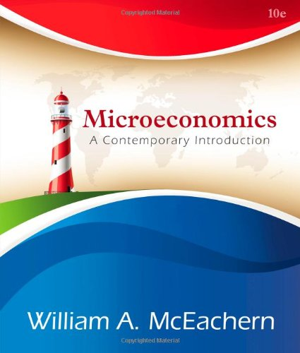 Microeconomics A Contemporary Introduction 10th 2014 edition cover