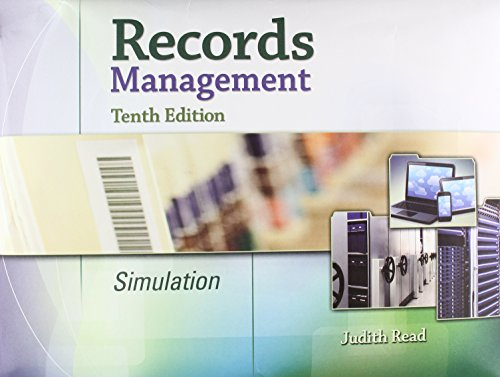 Records Management Simulation + Mindtap Office Management,1 Term 6 Month Printed Access Card:   2015 edition cover