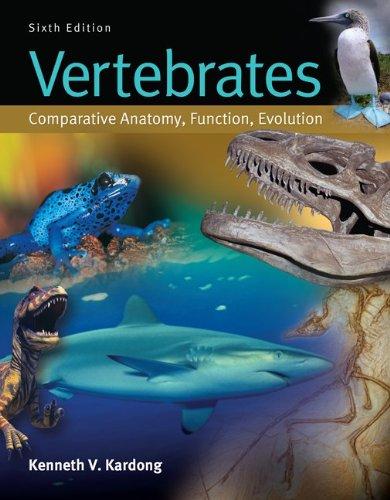 Vertebrates Comparative Anatomy, Function, Evolution 6th 2012 edition cover
