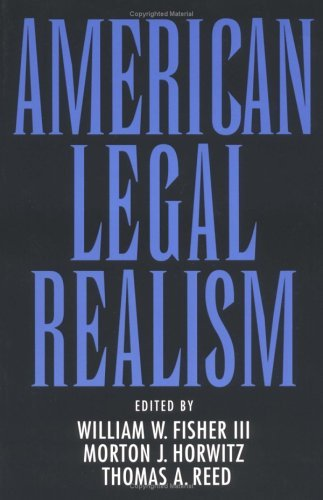 American Legal Realism   1993 edition cover