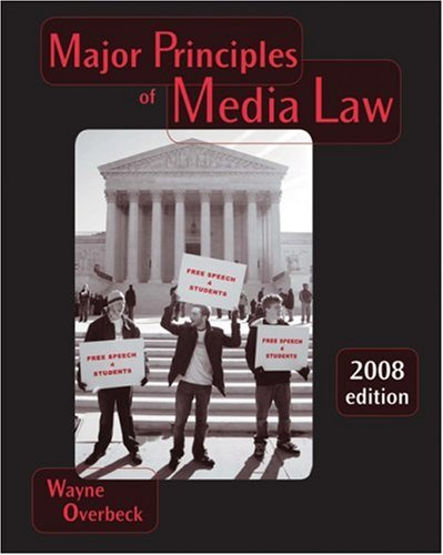 Major Principles of Media Law 2013   2008 9780495096238 Front Cover