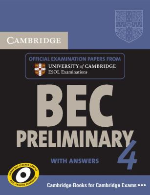 Cambridge English Business Certificate. Preliminary 4 Student's Book with Answers   2009 9780521739238 Front Cover
