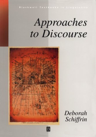 Approaches to Discourse Language as Social Interaction  1994 edition cover