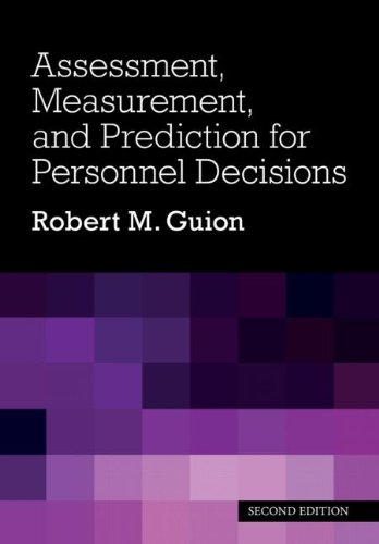 Assessment, Measurement, and Prediction for Personnel Decisions  2nd 2011 (Revised) edition cover