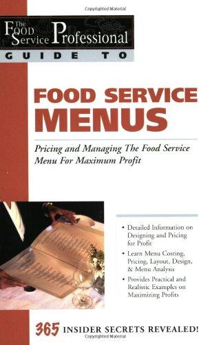 Food Service Menus Pricing and Managing the Food Service Menu for Maximum Profit  2003 edition cover
