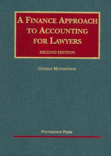 Finance Approach to Accounting for Lawyers  2nd 2006 (Revised) edition cover
