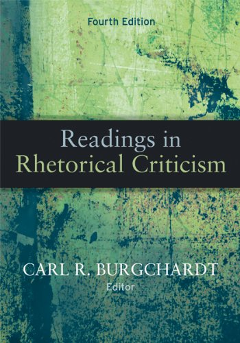 Readings in Rhetorical Criticism  4th 2010 edition cover