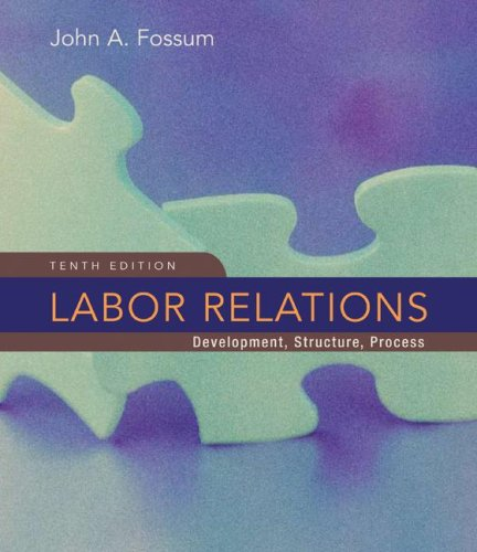 Labor Relations  10th 2009 edition cover