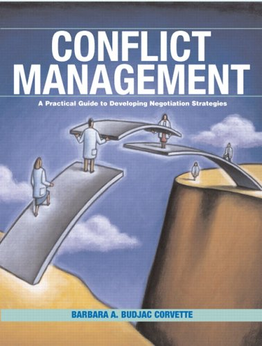 Conflict Management A Practical Guide to Developing Negotiation Strategies  2007 edition cover