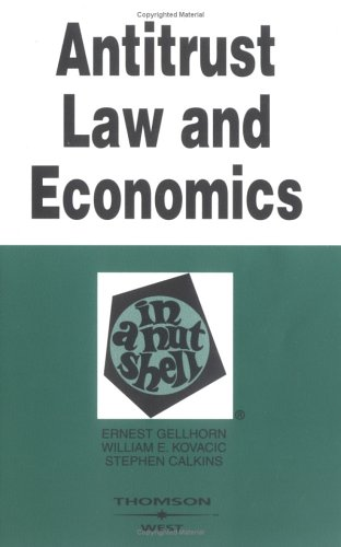 Antitrust Law and Economics in a Nutshell  5th 2004 (Revised) edition cover