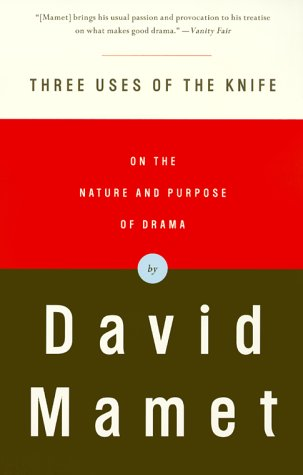 Three Uses of the Knife On the Nature and Purpose of Drama  2000 edition cover